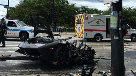 crashed lamborghini heroes rescue driver from lamborghini huracan moments
