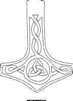 Thors hammer coloring page, mollijnor symbol tattoo design   Embroidery Inspiration and