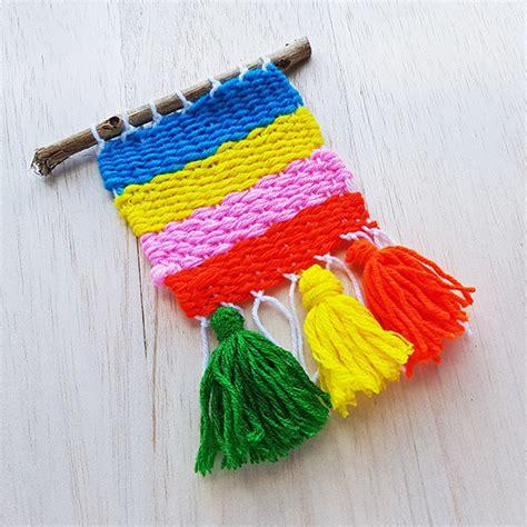 weaving ideas  kids yarn weaving   cardboard loom