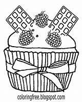 Coloring Drawing Cupcake Chocolate Cinnamon Belgium Graham Cracker Bun Cheesecake Colouring Cake Cartoon Draw Printable Teens Pastry Kitty Hello Milk sketch template