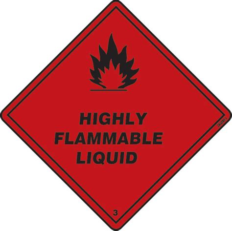 LALIZAS IMO SIGNS - Class 3 - Highly Flammable Liquid