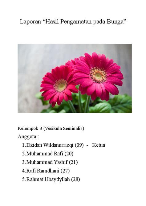 Global atau menyeluruh d 31. Contoh Teks Laporan Hasil Observasi Tentang Bunga Melati ...