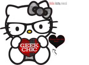 Nerd Hello Kitty Coloring Pages