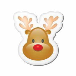 คริสต์มาสไอคอนสติกเกอร์กวางเรนเดีย ico,png,icns,ไอคอนฟรีดาวน์โหลด