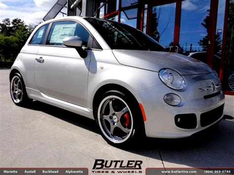 Fiat 500 Tires by Fiat 500 With 17in Tsw Volcano Wheels Exclusively From