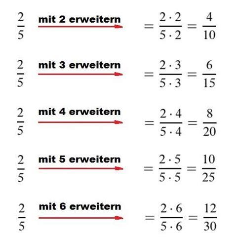 brueche erweitern lernen bruchrechnen lernen mathe