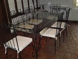 Verre Sur Mesure Pour Table : table en verre et fer forg sur mesures ~ Dailycaller-alerts.com Idées de Décoration
