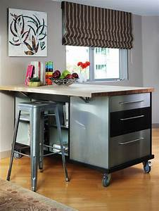 like this idea for a custom kitchen island on castor With best brand of paint for kitchen cabinets with life size wall art