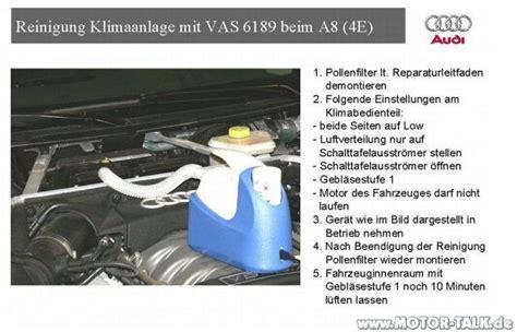 klimaanlage desinfizieren test klimaanlage desinfizieren klimaanlage selbst reinigen erfahrungen audi a8 d3 204096459