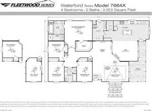 fleetwood mobile home floor plans cavareno home