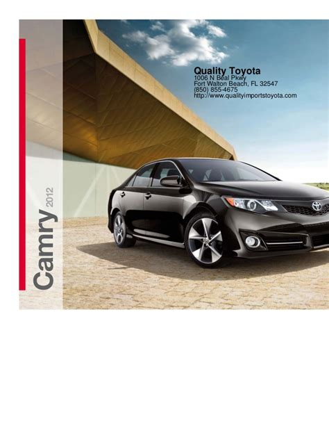 Toyota Pensacola by 2012 Toyota Camry For Sale Fl Toyota Dealer Near Pensacola