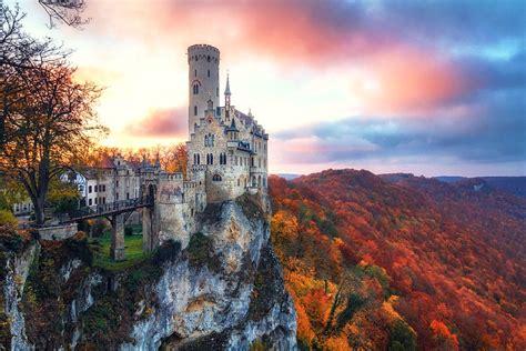 lichtenstein castle  fairy tale castle  wuerttemberg