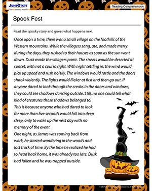 Halloween Fun Sheets For 3rd Grade  Kidz Activities