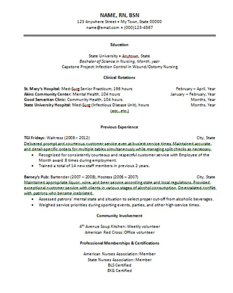 New Grad Nursing Resume Template by Top 7 Resume Hints For New Grad Nurses Nursing Resume