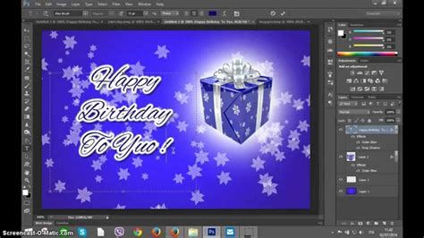 how to make a card template in photoshop photoshop create happy birthday greetings card