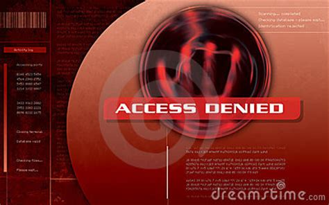 access denied computer screen stock image image