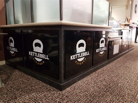 bell kitchen kettlebell kitchen design signage wrapping by cee graphics Kettle