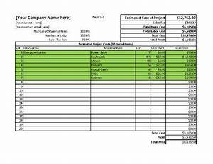 Contract Labor Invoice Template 11 Job Estimate Templates And Work Quotes Excel Word
