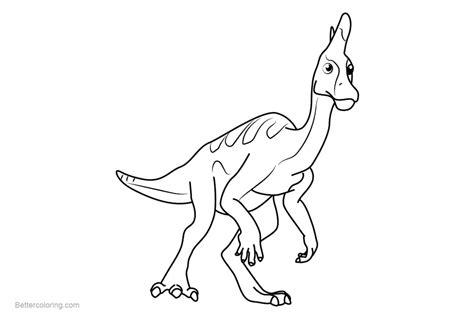 Dinosaur Train Coloring Pages Larry Lambeosaurus