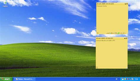 post it bureau pc creare post it sul desktop gratis salvatore aranzulla