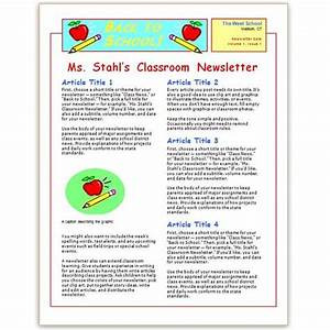 Where to find free church newsletters templates for for Primary school newsletter templates