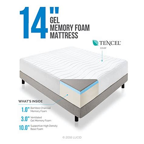 lucid 14 inch plush memory foam mattress 5 best
