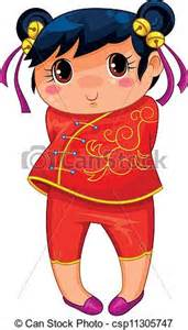 Little Chinese Girl Clip Art