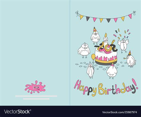 ready  print happy birthday card design  vector image