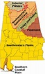 Physiographic regions of Alabama | Social studies