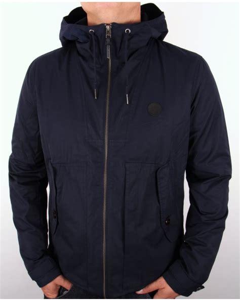 pretty green radway hooded jacket navy radway hooded