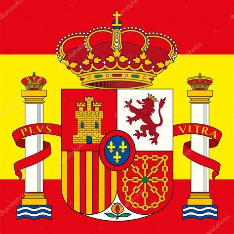 Escudo de España del brazo y bandera — Vector de stock