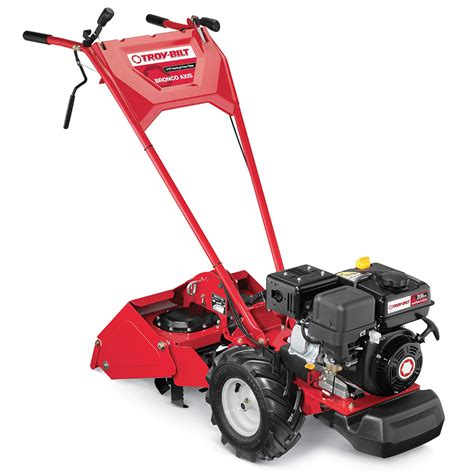 garden tillers at lowes shop troy bilt bronco axis 208cc 16 in rear tine tiller