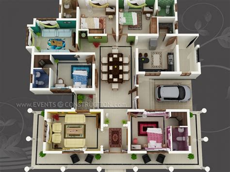 one house plans with large kitchens big house with colour coded rooms 4 bed 4 bath sims