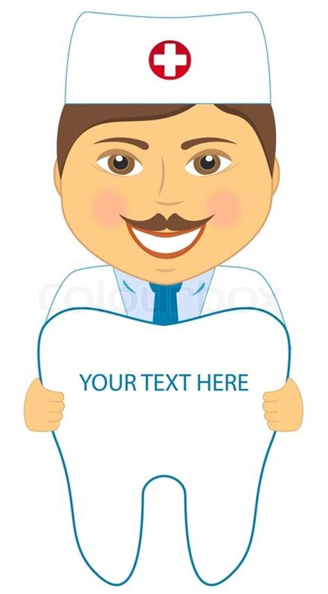 cartoon smile dentist  tooth  place  text