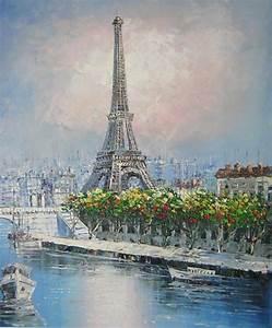 Peinture De Paris Poissy : peinture tour eiffel sur toile tableaux paris d co ~ Premium-room.com Idées de Décoration