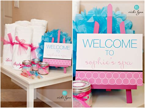 spa ideas the tomkat studio real parties sophie s fabulous spa birthday party