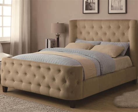 make modern headboard bedroom modern wingback headboard design with area rugs and wooden floor also beige wall for