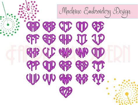 heart monogram  letter monogram heart monogram font  fabricmodern thehungryjpegcom