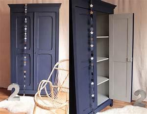 Armoire Metallique Pour Chambre : armoire vintage bleu nuit trendy little ~ Edinachiropracticcenter.com Idées de Décoration
