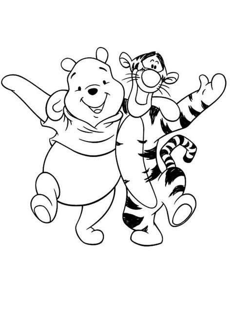 pooh bear coloring pages free printable pooh bear