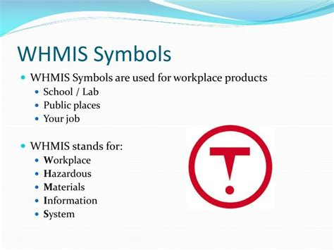 Whmis And Hhps Safety Powerpoint Presentation