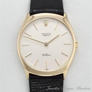 Rolex Uhr Herren Gold : rolex uhr cellini ref 4133 gold 750 leder handaufzug armbanduhr herren lady ebay ~ Frokenaadalensverden.com Haus und Dekorationen