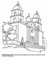 Coloring California Missions History Grade Santa Barbara Mission 4th Timeline Patrioticcoloringpages Printable Spanish Colouring Patriotic Studies Social Native Printables Sheets sketch template