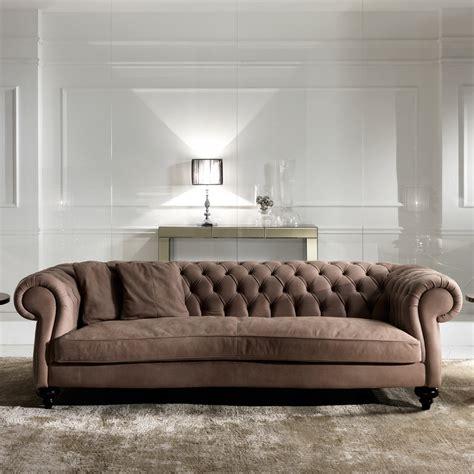 Italian Leather Modern Chesterfield Sofa  Juliettes Interiors