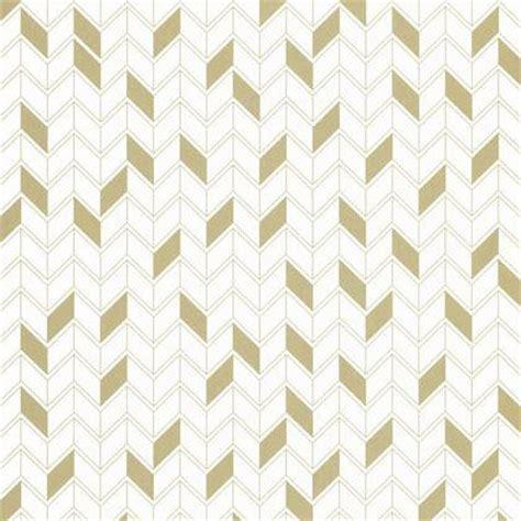 Papier Peint Scandinave Geometrique by Papier Peint G 233 Om 233 Trique Blanc Et Or Intiss 233 Shine Leroy