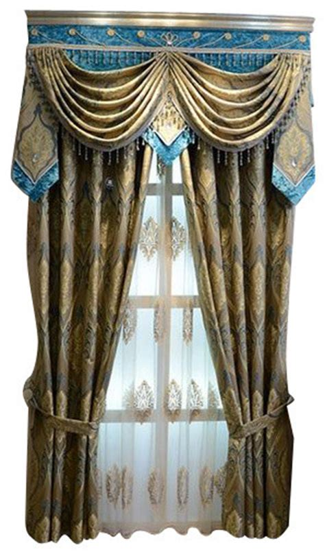 Luxury Window Curtain, Aegean Sea   Curtains   by Ulinkly