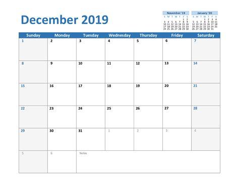 blank december printable calendar excel word