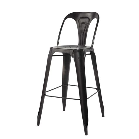 chaise en metal chaise de bar indus en métal multipl 39 s maisons du