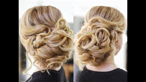 Wedding Hairstyles Updos With Curls by Easy Wedding Updo With Curls Prom Hairstyles Hair Tutorial
