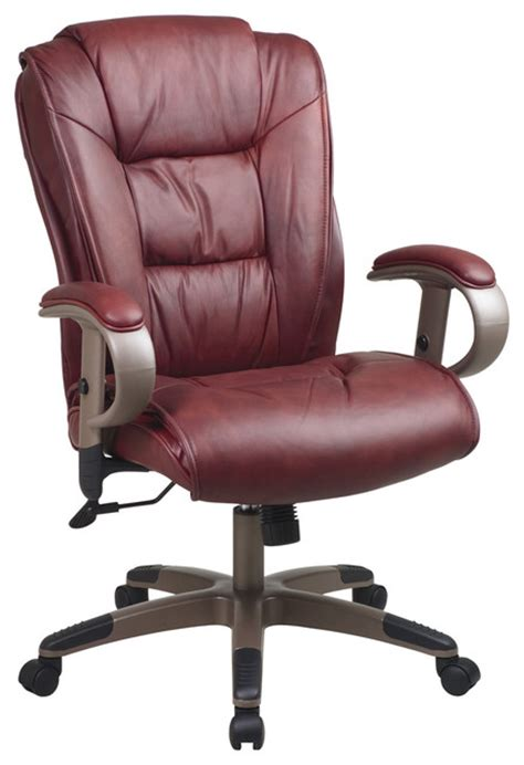 burgundy leather executive office chair modern office